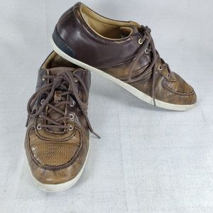 LN Mens Ugg Distressed Leather Sneakers Sz-11.5